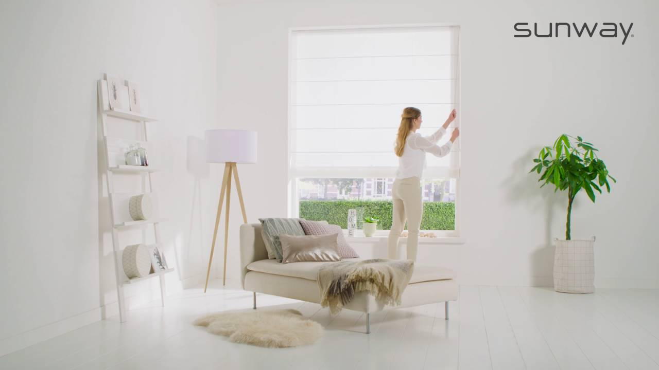 Vouwgordijnen met ketting sunway raamdecoratie youtube