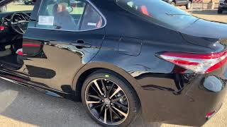 2019 Camry XSE 4 cylinder black with red interior overview!— Under $32k!!!???