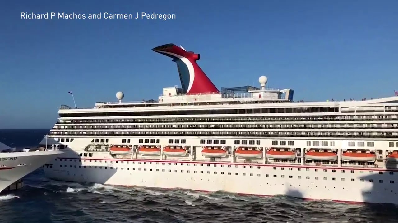 Two Carnival cruise ships collide at a dock in Cozumel ...
