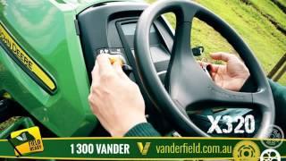John Deere X320 at Vanderfield