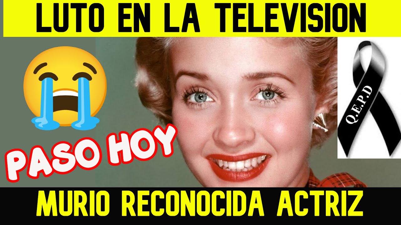 TRISTE NOTICIA! MURIÓ UNA DE LAS GRANDES GLORIAS DEL CINE Y LA TELEVISIÓN (Comenzo a los 5 años)
