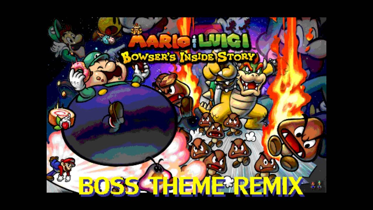 Mario and Luigi 3: Bowser's inside story - Boss Battle remix