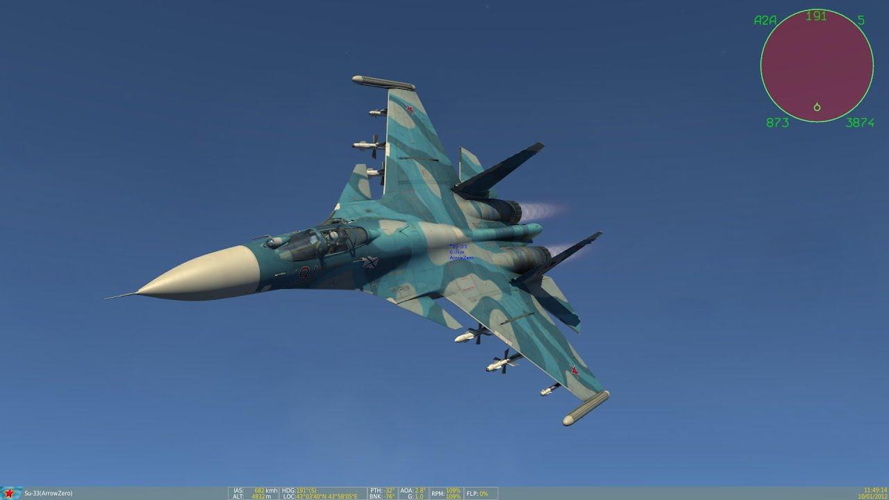 Loading su 33 flanker d carrier based fighter jet su 27 - Dcs World Sukhoi Su 33 Flanker D Battle Mission Part 3