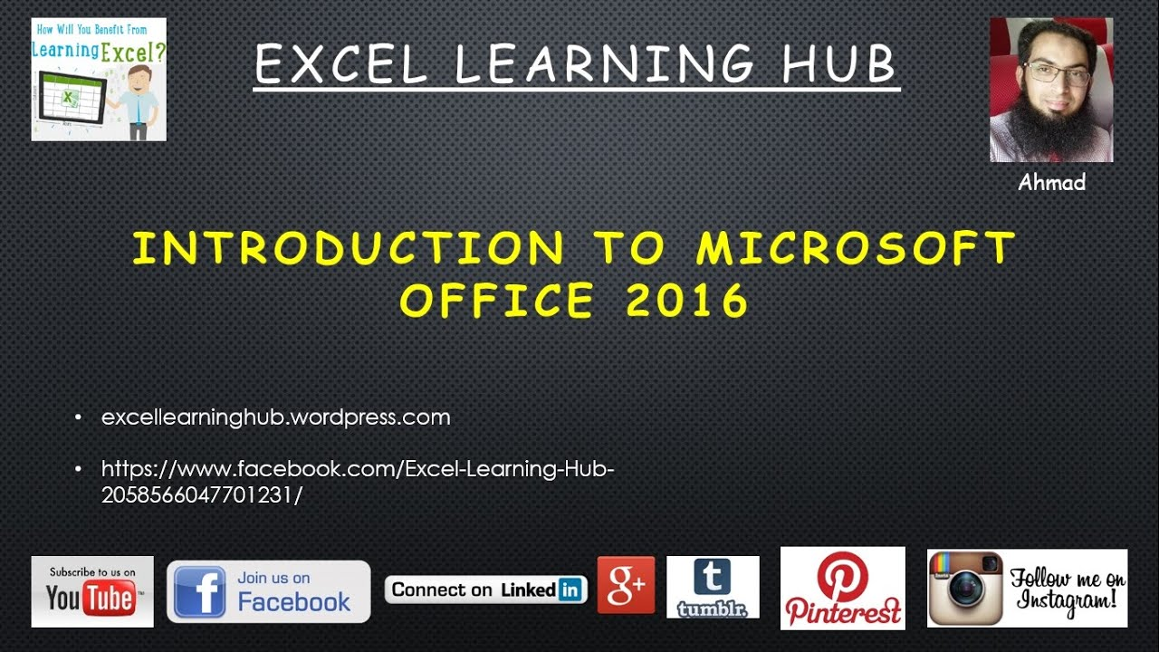 How to Learn Ms Excel 2016 Basic to Advance Level in Urdu: Topic 1  Introduction of Microsoft Office