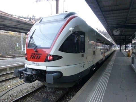 Swiss Trains: Gotthard route, Bellinzona Stazione, 01Jan14