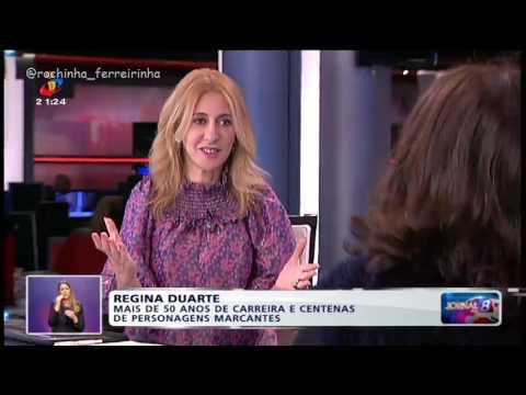 Regina Duarte em Portugal (2016) Jornal das 8 (parte 1)