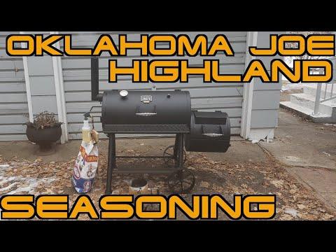 seasoning-my-oklahoma-joe's-highland-offset-smoker!