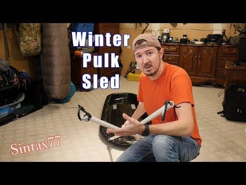 DIY Pulk Sled - Winter Camping Gear