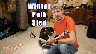 DIY Pulk Sled - Winter Camping Gear