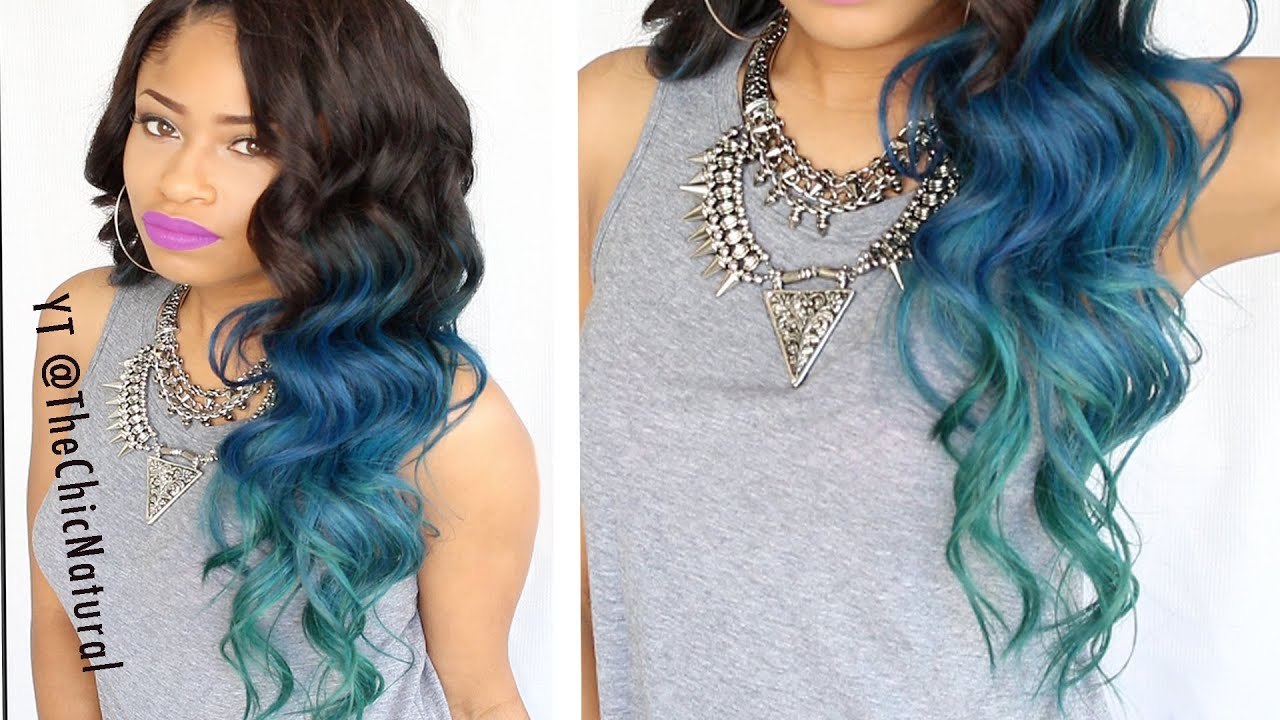 How To Mermaid Hair Color Diy Youtube