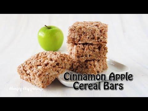 Cinnamon Apple Cereal Treats