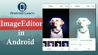 How to make photo editor app in android studio