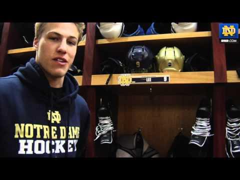 Notre Dame Hockey - Anders Lee Locker Room Tour