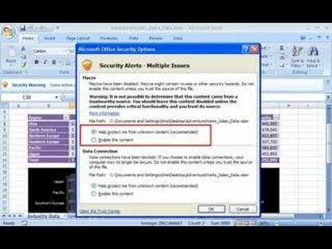 Office 2007 Demo: Enable Blocked Macros
