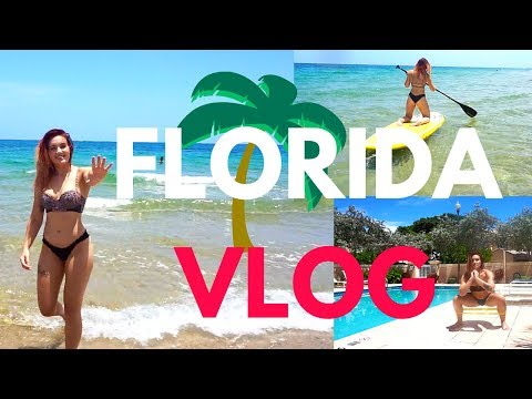 FLORIDA VLOG // PADDLE BOARDING, FAMILY, & POOLSIDE WORKOUT