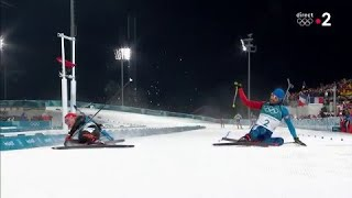 JO 2018 : Biathlon - Mass start hommes. Martin Fourcade remporte l'or à la photo finish !!!