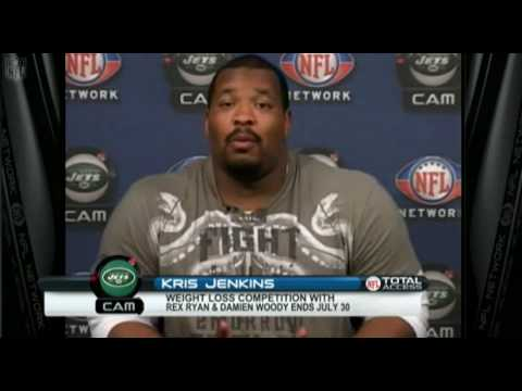 Kris Jenkins of the Jets talks about Rex Ryan Weight Challenge