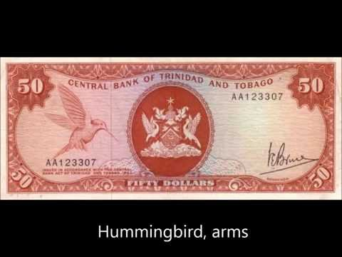 BANKNOTES TRINIDAD & TOBAGO 1964 (1977) ARMS   ISSUE
