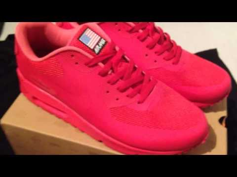 Nike Air Max 90 Red Independence Days (w NEW USA FLAG