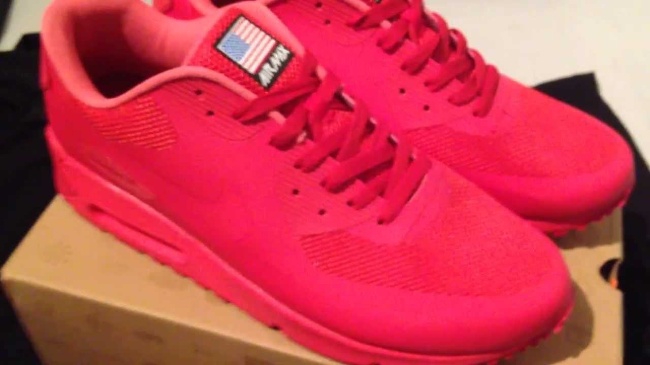 nike air max all red american flag