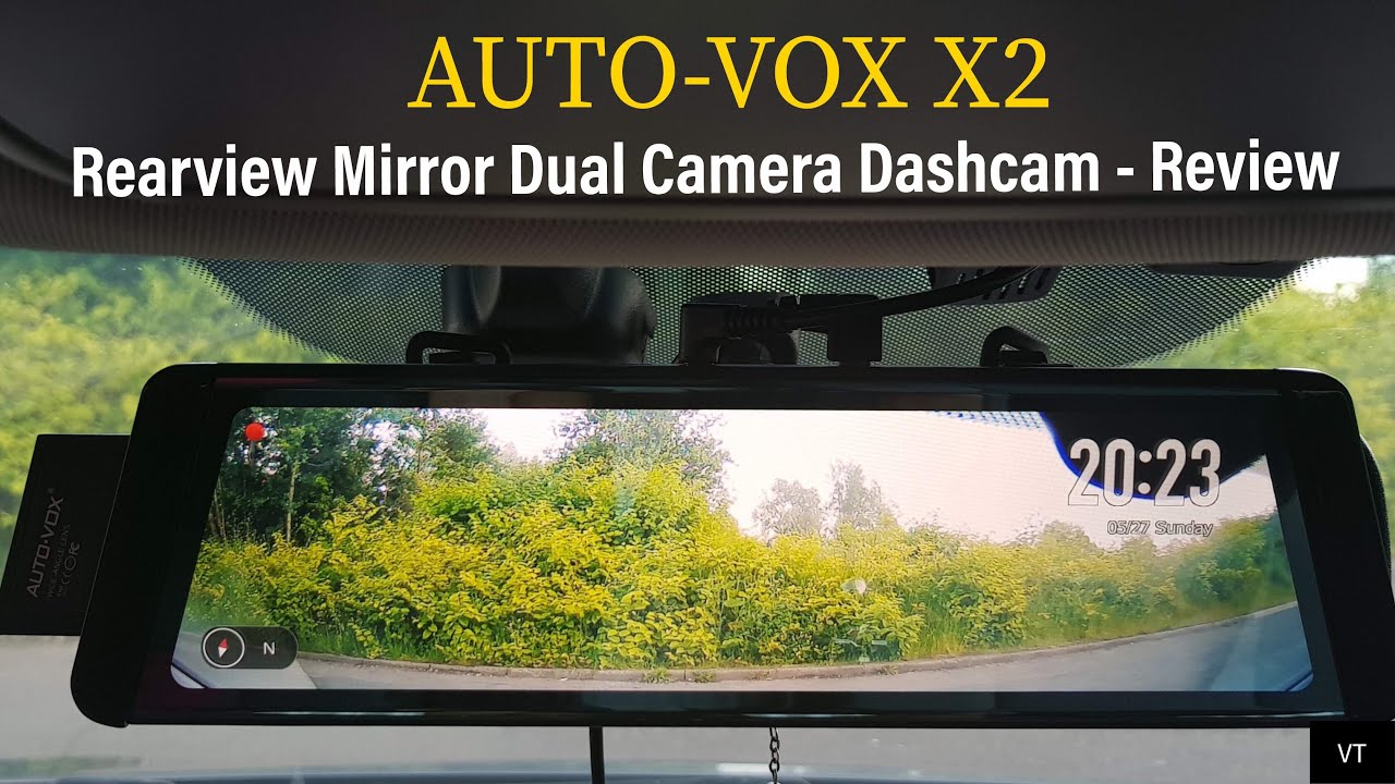 auto vox x2 fullscreen lcd rearview mirror dual camera. Black Bedroom Furniture Sets. Home Design Ideas