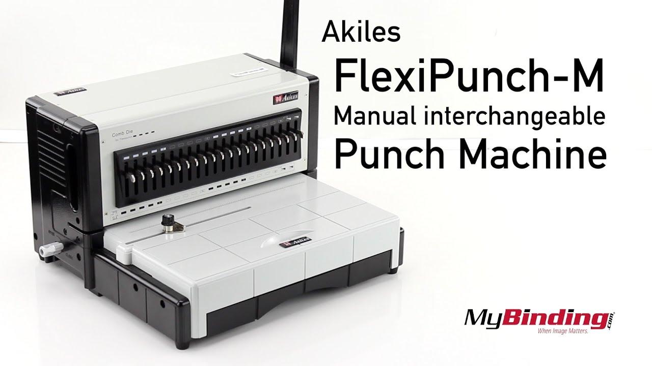 Akiles FlexiPunch M Manual Interchangeable Punch Machine - YouTube