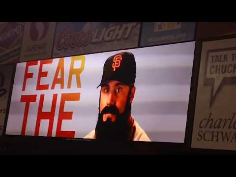 SF Giants closer Brian Wilson entrance --
