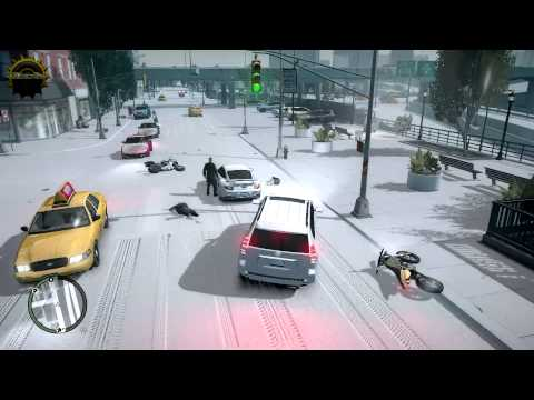 GTA 4 FUN SNOW ON CITY AND REAL CARS REAL WEATHER ENGINE MOD