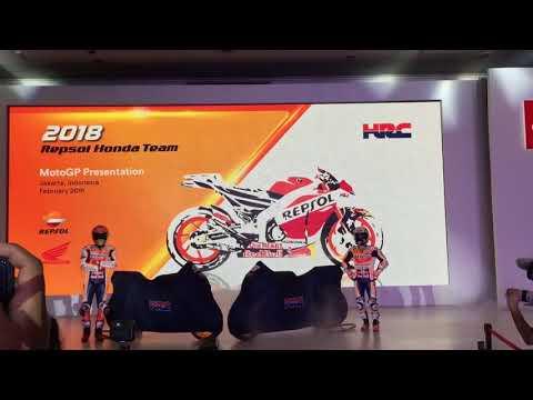 Peluncuran Motor Balap Marquez dan Pedrosa buat MotoGP 2018