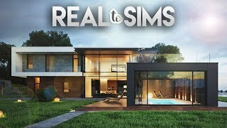 4+3 MODERN HOUSE | Real To Sims #8 | The Sims 4 Speed Build