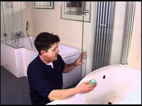 How To Fit A Curved Shower Seal Shower Seals Uk Youtube