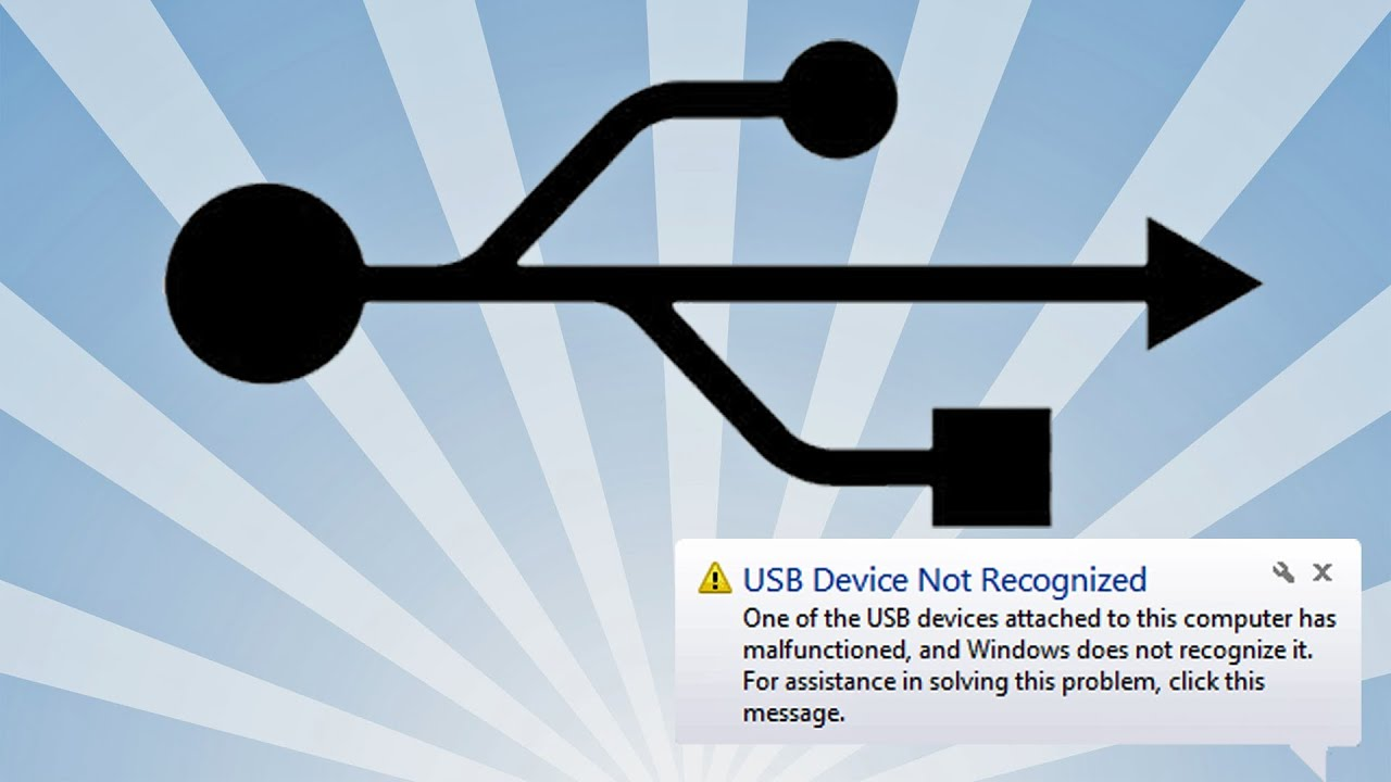 Usb Device Not Recognized Solution Youtube