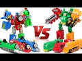 Thomas & Friends VS TrainRoBot  Red Green Blue Yellow Train Transformers Combine Robot Car Toys