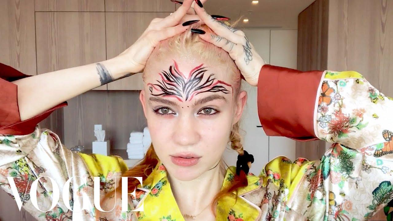 Grimes's Pregnancy Skincare & Psychedelic Makeup Routine | Beauty Secrets | Vogue