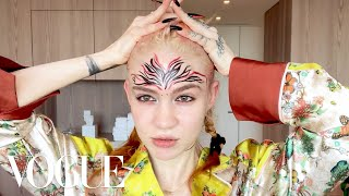 Grimes's Pregnancy Skincare & Psychedelic Makeup Routine | Beauty Secrets | Vogue