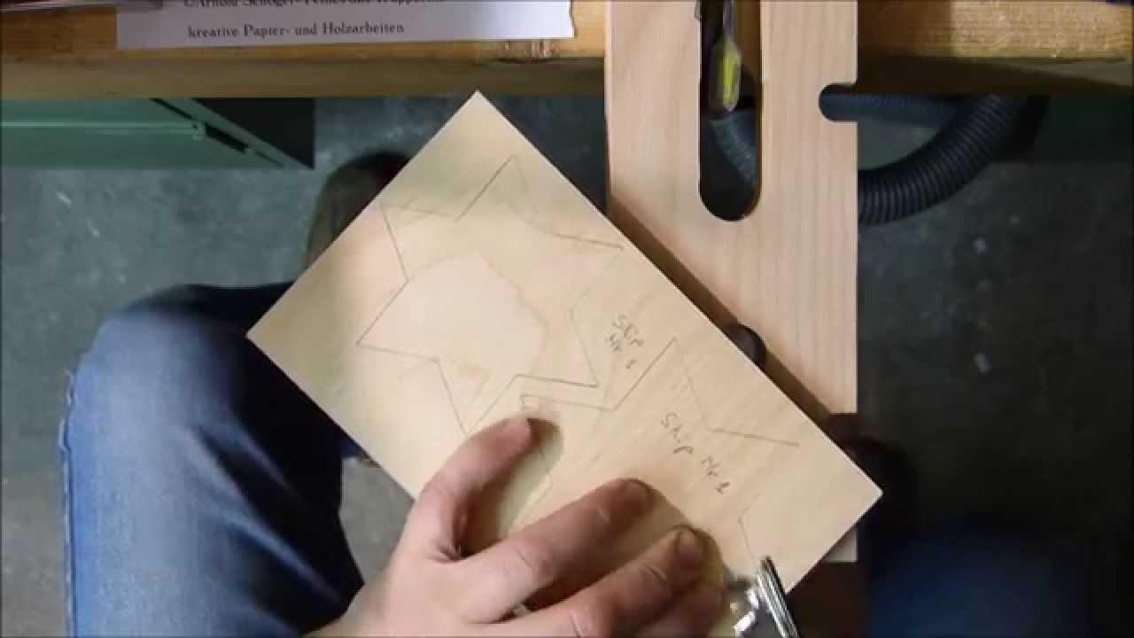 Holzstern Aus 10 Mm Birkensperrholz Mit Skip Nr 1 Der Laubsäge
