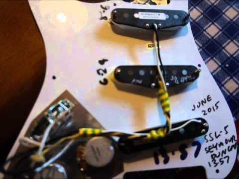 Seymour Duncan ssl 5 Bridge Pickup - YouTube