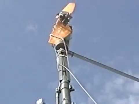 HB9G  Relais R5  Franco Suisse   F6etq    Michel Maire   reparations cable eolienne en solo