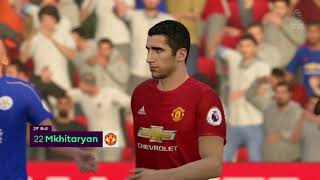 FIFA 17 Manchester United Leicester City Premier League 3e journée 17/18