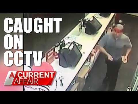 Trusted employee caught on CCTV stealing | A Current Affair Australia