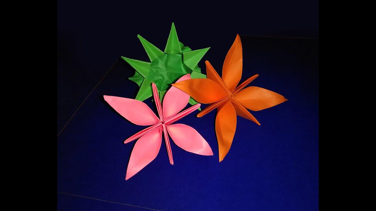 Origami ❀ Water Lily ❀ ( modular ) - YouTube | 720x1280