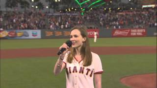 San Francisco Giants vs Los Angeles Dodgers- National Anthem- September 28, 2015