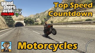 Fastest Motorcycles (2018) - GTA 5 Best Fully Upgraded Bikes Top Speed Countdown