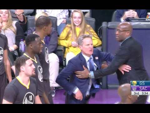 Steve Kerr Gets EJECTED! | Warriors Vs Kings | 02/04/17