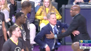 Steve Kerr gets EJECTED! | Warriors vs Kings | 02/04/17