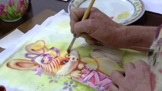 Pintura em fralda, técnica aguada – Farides Moretti