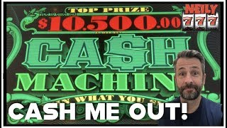 MY FIRST TIME PLAYING CASH MACHINE and I GOT THE RED SCREEN! CASH ME OUT SLOT STRATEGY!