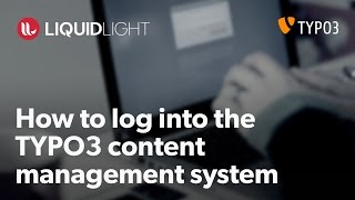 How to login to TYPO3 content management system (CMS)
