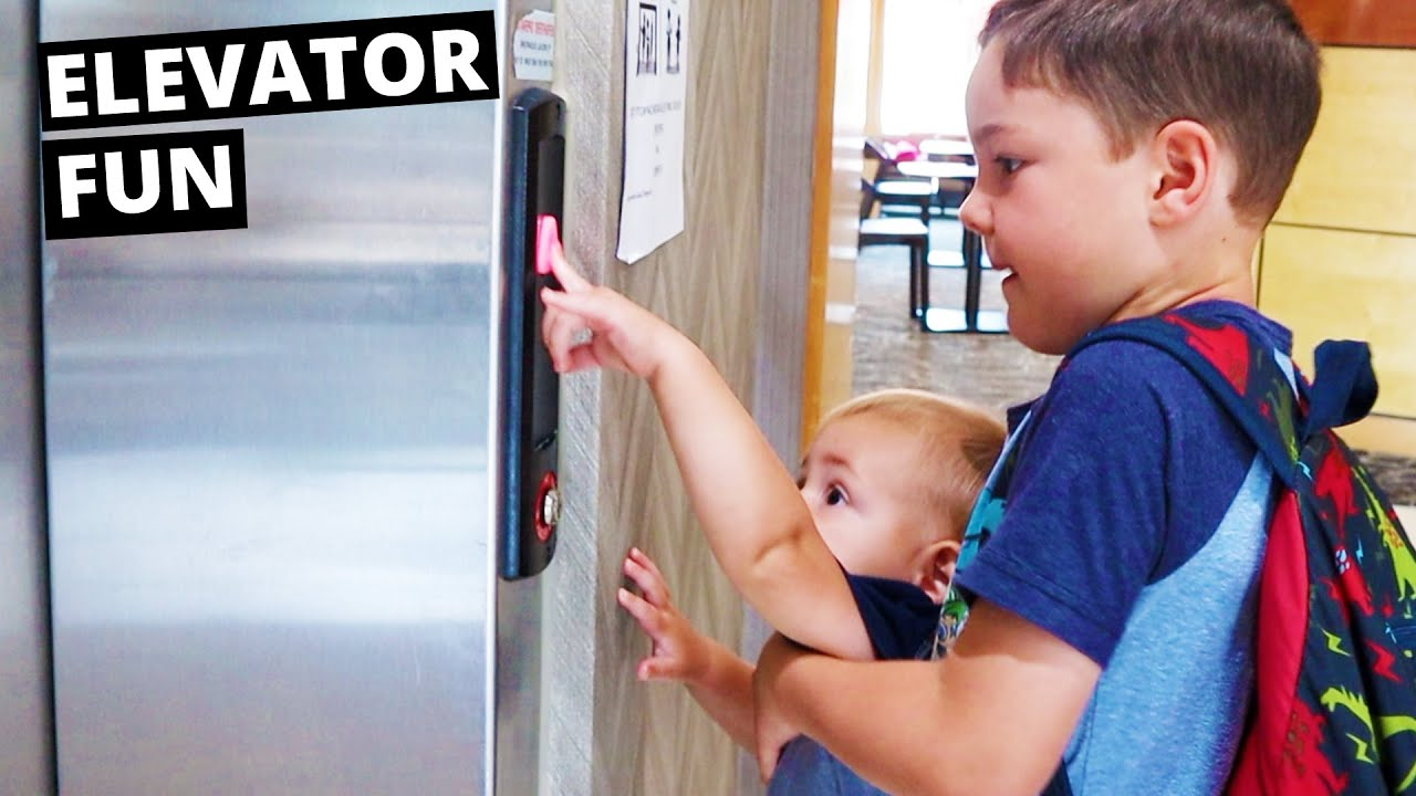 Download Dad & Kids Go Crazy Riding The Hotel Elevators