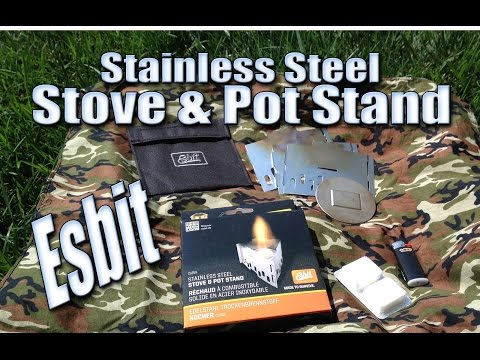Esbit Stove and Pot Stand - Stainless Steel